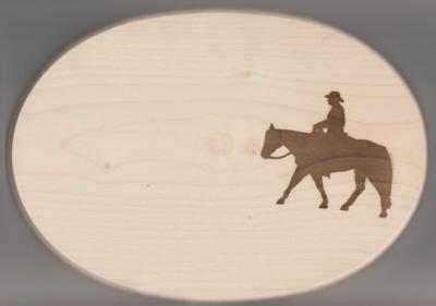 Frühstücksbrett Oval 18 x 26 x 1,5 Pferde Motiv Pleasure
