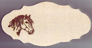 Tür oder Boxenschild Ponykopf