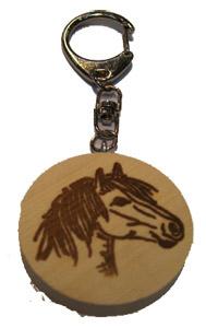 Schlüsselanhänger Ponykopf.