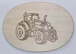 Frühstücksbrett  Motiv Trecker Schlepper Tracktor Oval mit kostenloser Wunschgravur