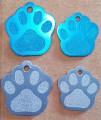 Hundemarke,Kleintiermarke Pfote. Groß & Klein mit kostenloser Wunschgravur. PORTOFREI