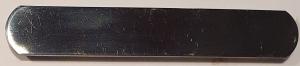 Halfterschild Massiv Messing & Silber 100 x 14mm Portofrei & Gratis Wunschgravur