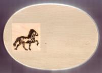 Früstücksbrett Motiv Isländer Oval 18 x 26 x 1,5