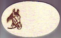 Tür oder Boxenschild Pferdekopf